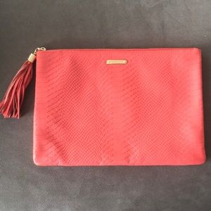 Gigi New York Large Clutch in Coral